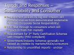 trends and responses sustainability and consumer