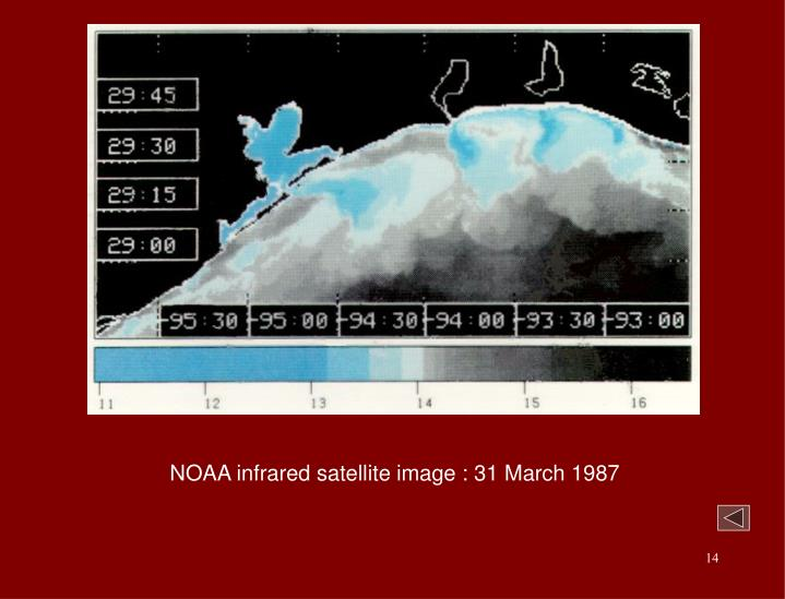 NOAA infrared satellite image : 31 March 1987