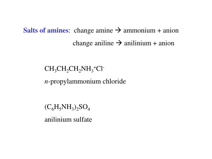 Salts of amines