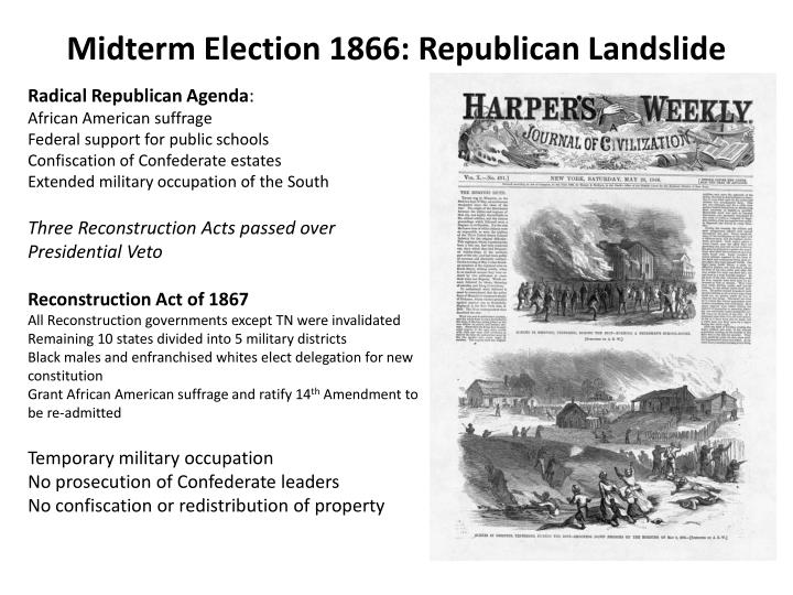 Midterm Election 1866: Republican Landslide