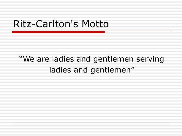 ritz carlton case study Ritz-carlton hotels were managed by the employee training & development at ritz-carlton: fostering an exceptional customer service culture award winning case study.