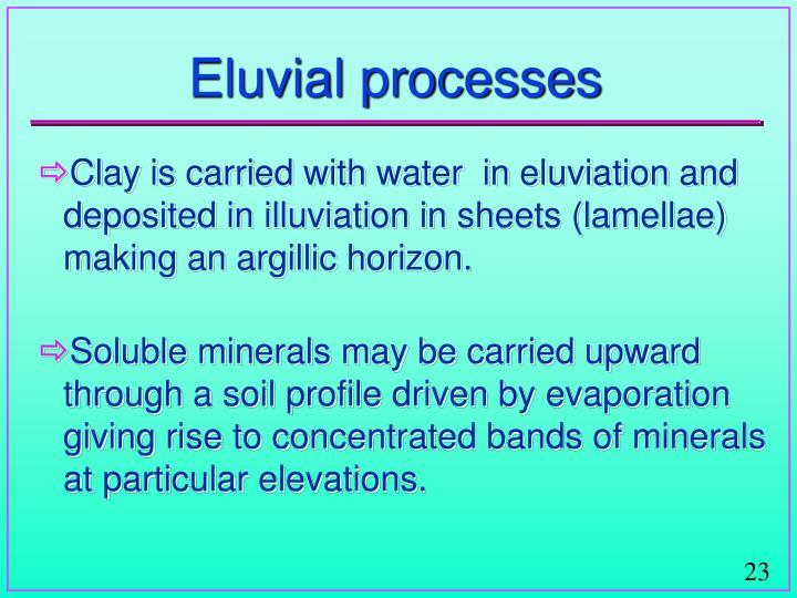 Eluvial processes