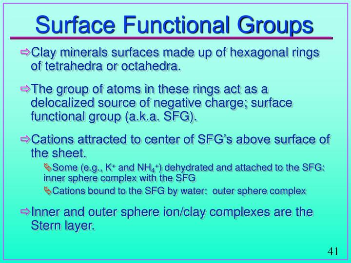 Surface Functional Groups
