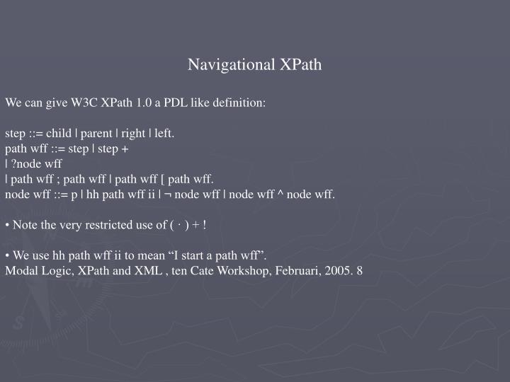 Navigational XPath