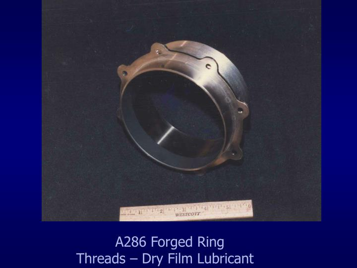A286 Forged Ring