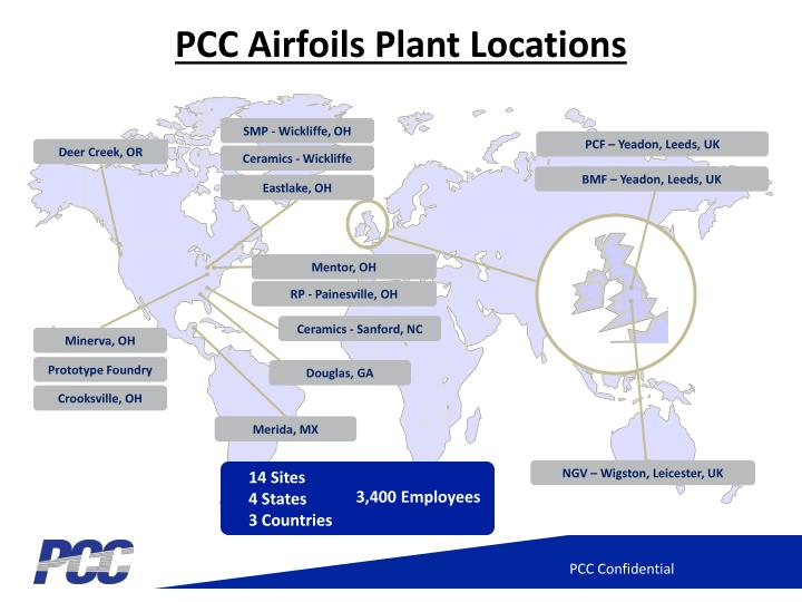 Pcc airfoils plant locations