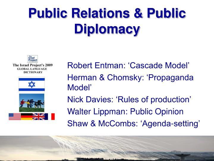 Public Relations & Public Diplomacy