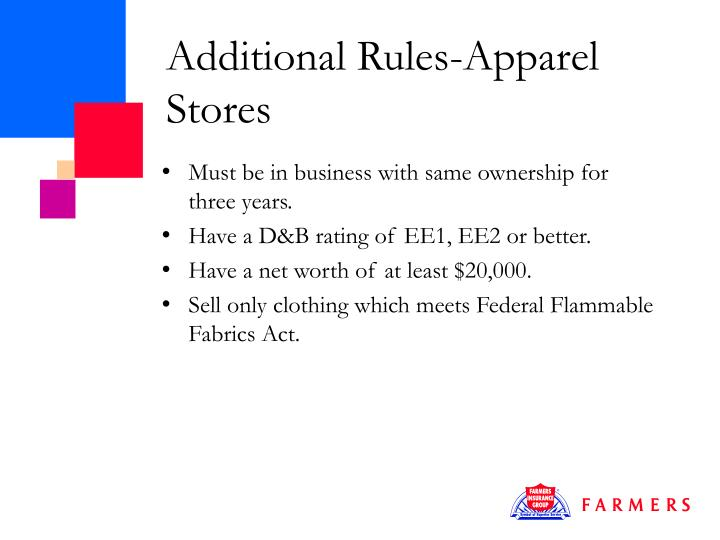 Additional Rules-Apparel