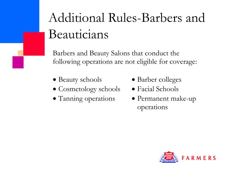Additional Rules-Barbers and