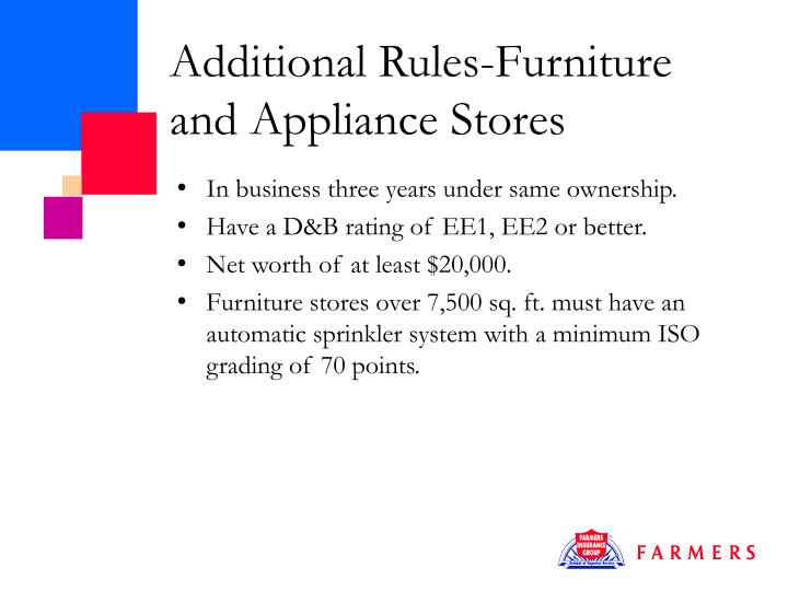 Additional Rules-Furniture