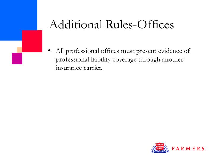 Additional Rules-Offices