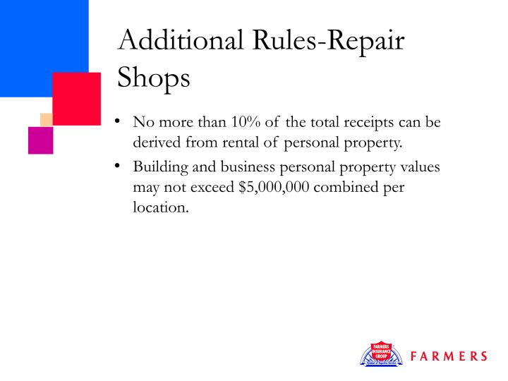 Additional Rules-Repair