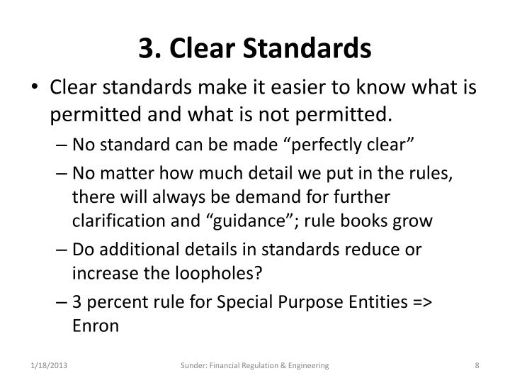 3. Clear Standards