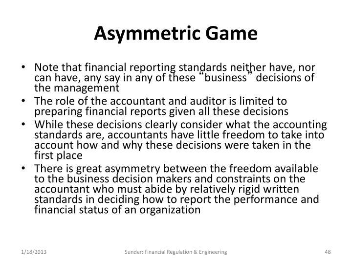 Asymmetric Game