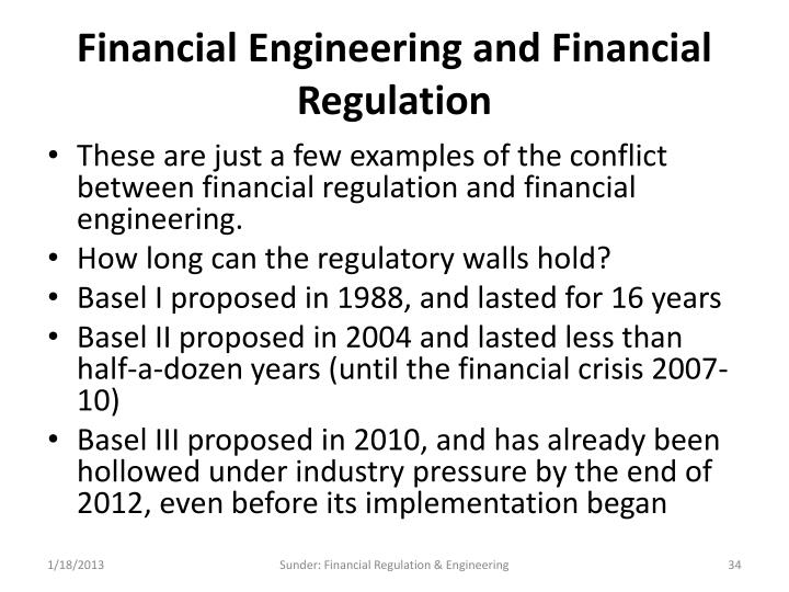Financial Engineering and Financial Regulation
