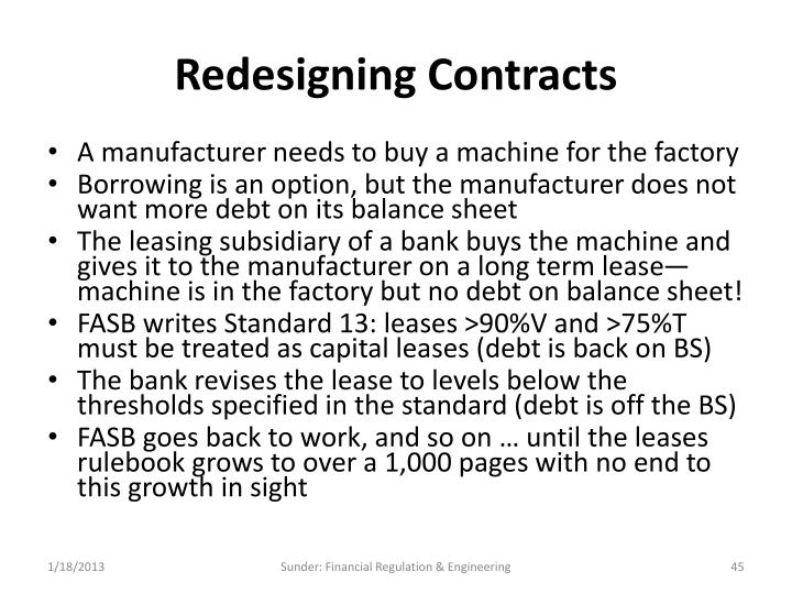 Redesigning Contracts