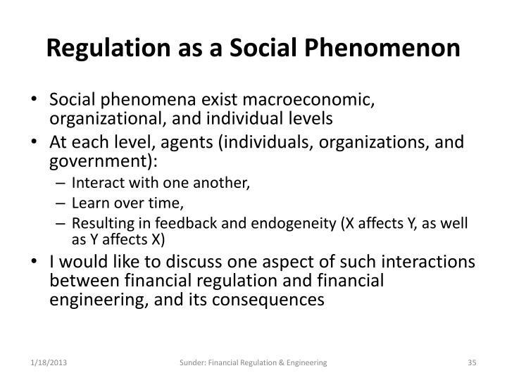 Regulation as a Social Phenomenon