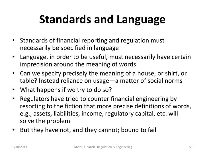 Standards and Language
