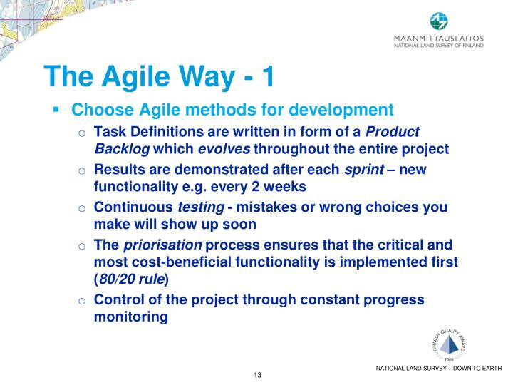 The Agile Way - 1