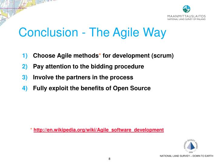 Conclusion - The Agile Way