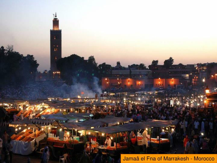 Jamaâ el Fna of Marrakesh - Morocco