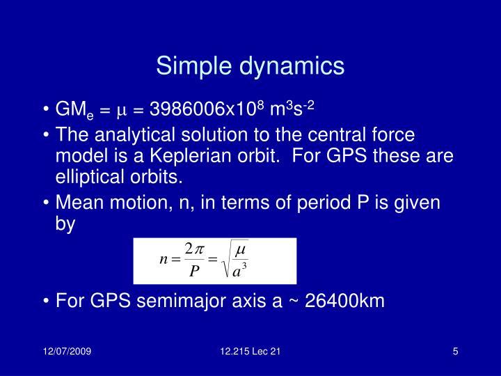 Simple dynamics