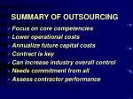 summary of outsourcing