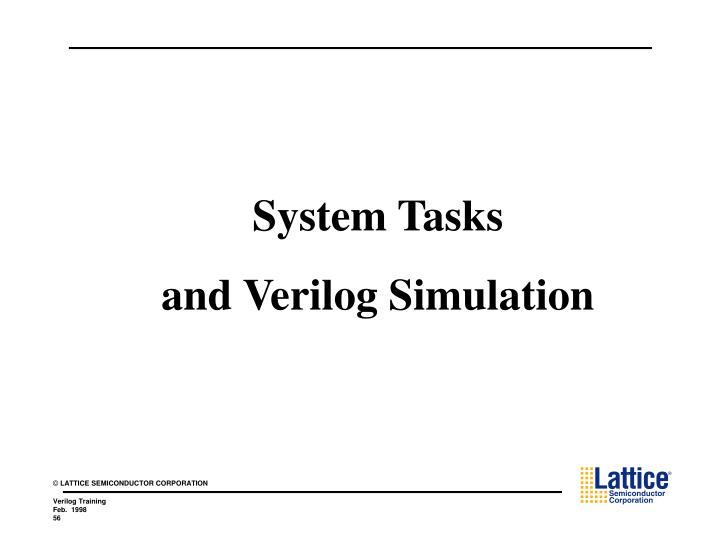 System Tasks