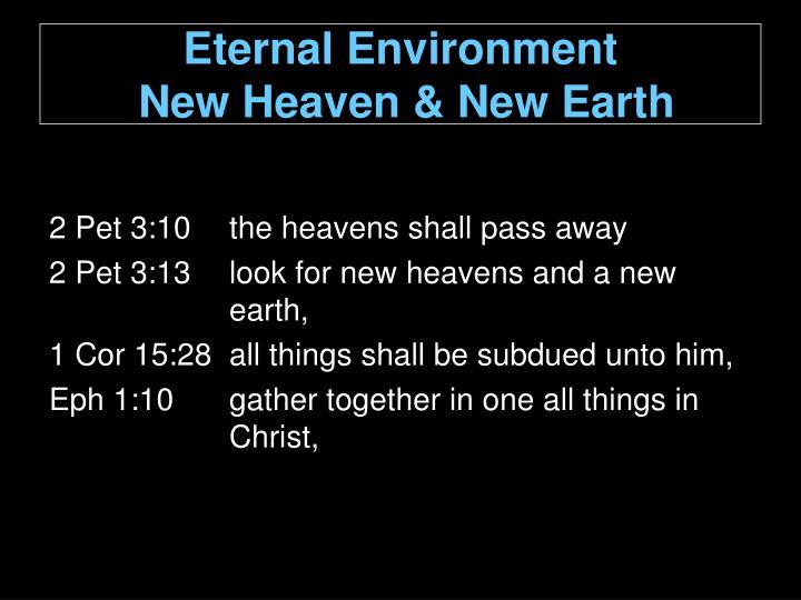 Eternal Environment
