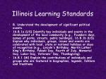 illinois learning standards