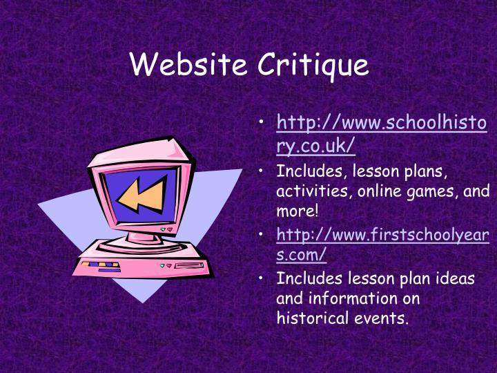 Website Critique