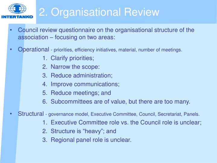 2. Organisational Review