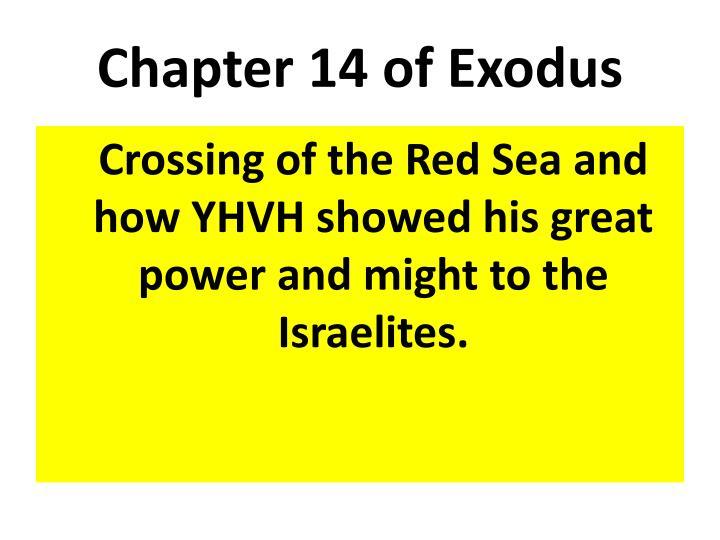 Chapter 14 of Exodus