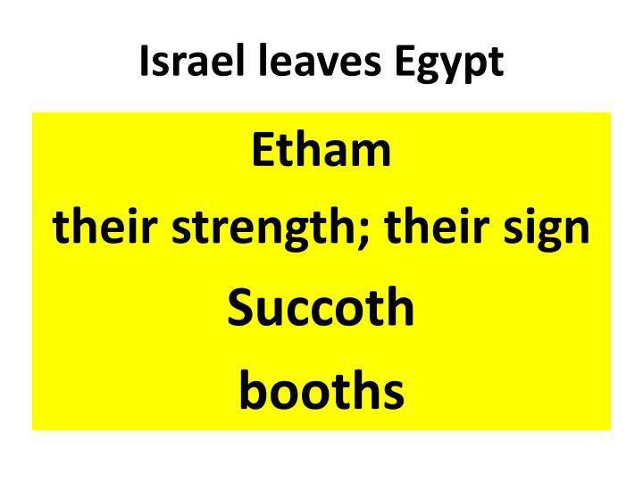 Israel leaves Egypt