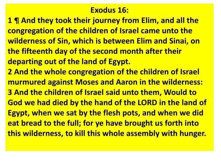 Exodus 16: