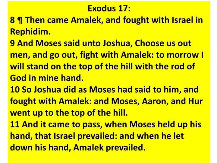 Exodus 17:
