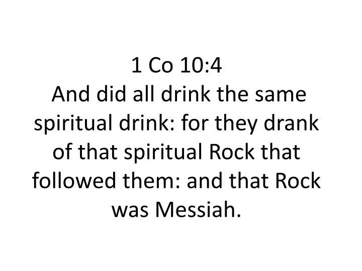 1 Co 10:4
