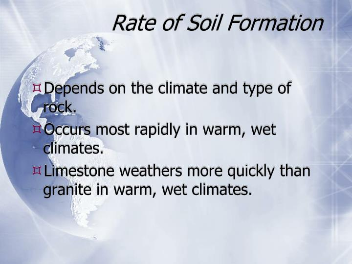 Rate of Soil Formation