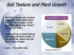 soil texture and plant growth