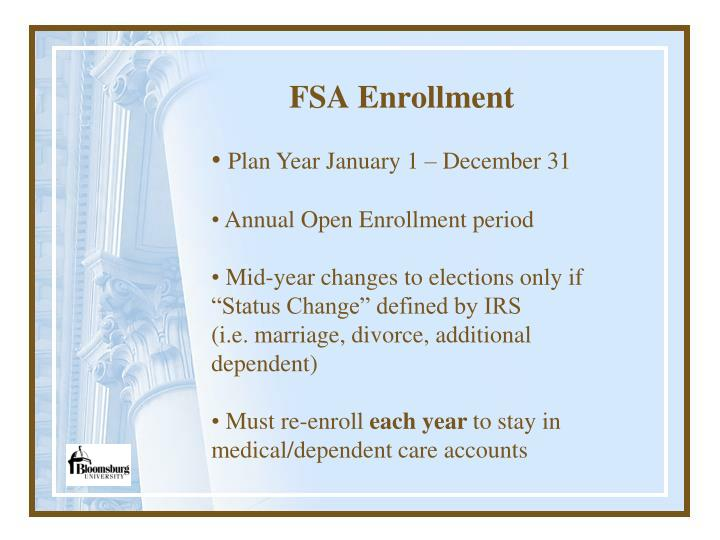 FSA Enrollment