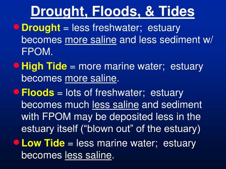 Drought, Floods, & Tides