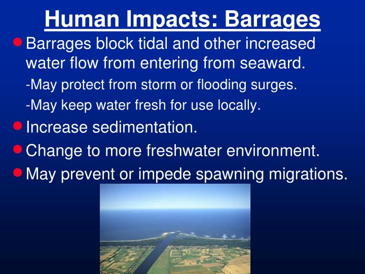 Human Impacts: Barrages