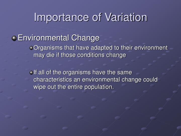Importance of Variation