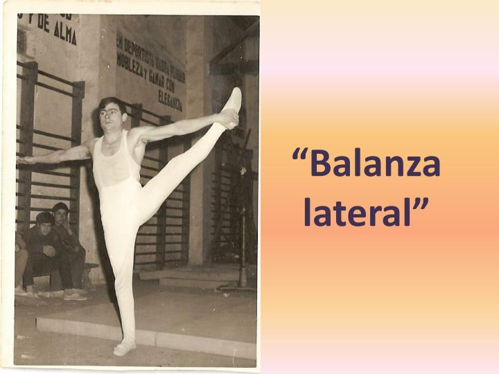 """""""Balanza lateral"""""""