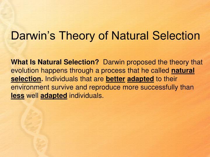 Darwin's Theory of Natural