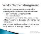 vendor partner management