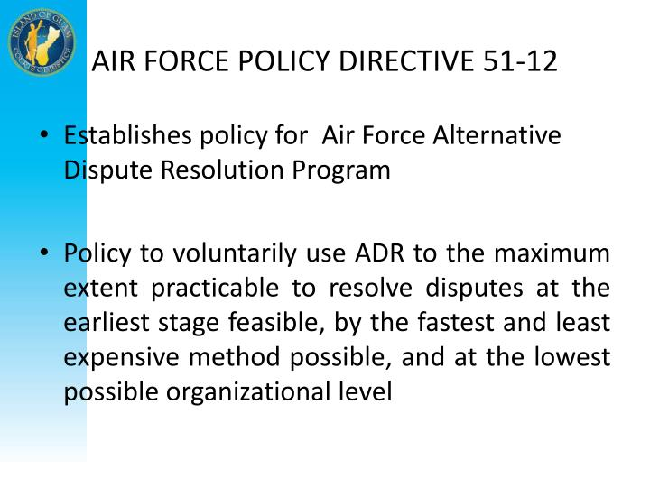 AIR FORCE POLICY DIRECTIVE 51-12