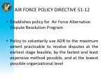 air force policy directive 51 12