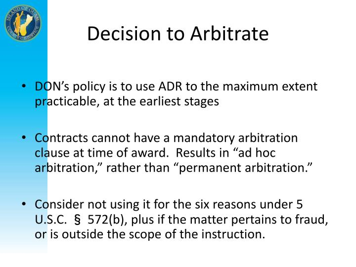 Decision to Arbitrate