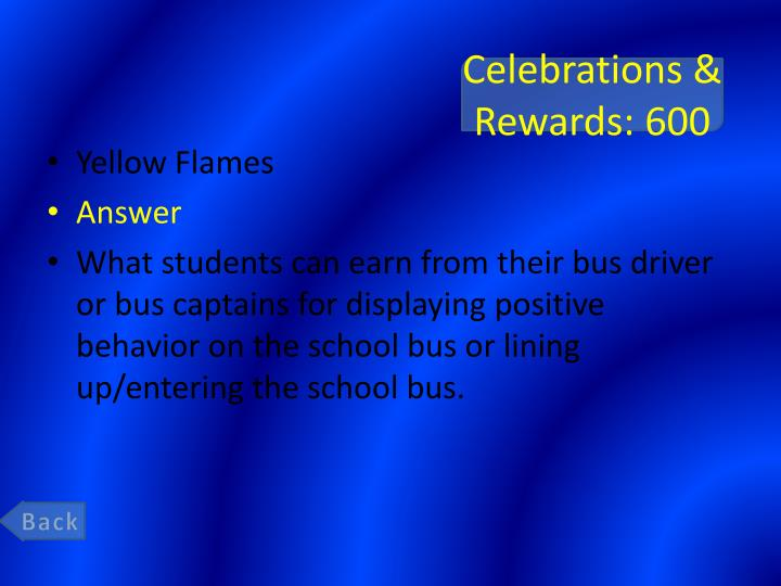 Celebrations & Rewards: 600